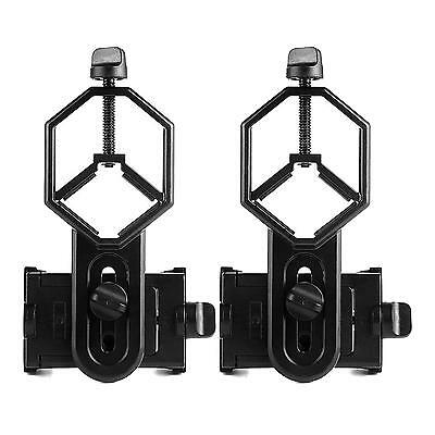 2x Telescope Cell Phone Mount Adapter for Monocular Microscope Spotting Scope US