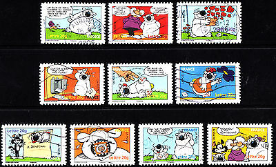 France 2006 Comics Complete Set of Stamps P Used S/A