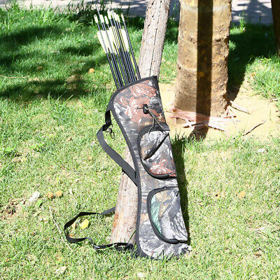 Outdoor Hunting Back Arrow Quiver Archery Bow Arrow Holder Belt Bag Camo Pouch