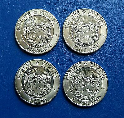 1992 Pattern 25 Ecu x 4: England, Scotland, Wales & N. Ireland - Crown Size