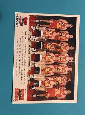 Pizza Haven: Adelaide Super Sixers  Card Promo Sheet