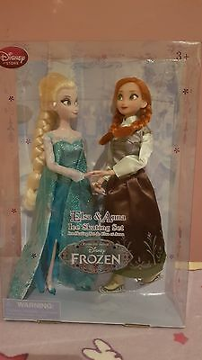 Disney Store Frozen Ice Skating Anna Elsa twin pack dolls (Discontinued)