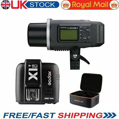 UK Godox AD600BM HSS 600W 2.4G Flash X1T-C Transmitter +CB-09 Case for Canon HOT
