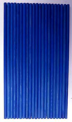 21 x Blue Wooden Dowel Rods