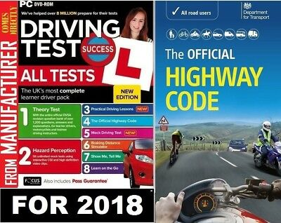 2017 Driving Theory Test and Hazard CD DVD + Official DSA Highway Code Book DVLA