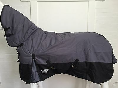 AXIOM 600D WATERPROOF 300G GREY/BLACK TURNOUT COMBO - 6' 0 clearance sale!