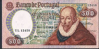 Portugal Banknote 500 P177 1979 Au Unc 1/9 Sig Types This Pick
