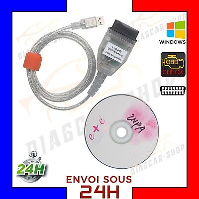 Interface Diagnostic INPA SSS Ediabas K+DCAN D-CAN USB OBD2 EOBD Câble Pr BMW