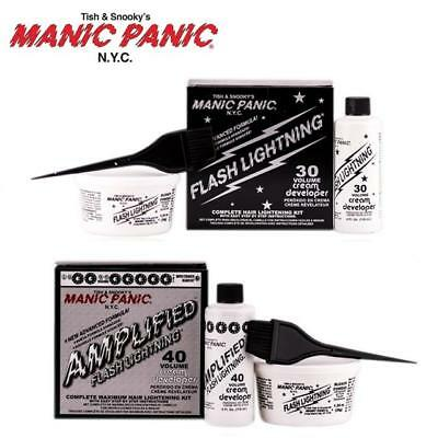 New Manic Panic Amplified Flash Lightning Bleach Kit Vol 30 40 Complete Hair