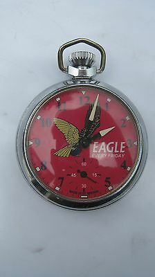 EAGLE COMIC POCKET WATCH UNTOUCHED OWNED FROM  LATE 1960s WORKS  & RARE!!!