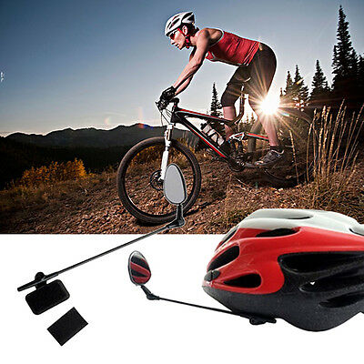 Bike Bicycle Motorbike Cycling Helmet Rear View Back Rearview Safety Mirror PK