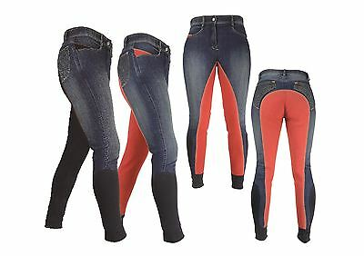 HyPERFORMANCE Rugby Denim Ladies Breeches Horse Riding 2 Colours 11415P