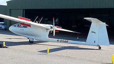 SZD - 45A - OGAR Touring Motor Glider. Hangered at Perranporth Airfield Cornwall