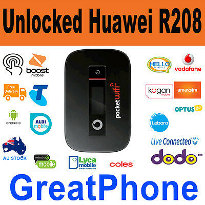 New Unlocked Huawei R208 3G Pocket WiFi Extreme +  Unlocked to *All Network*