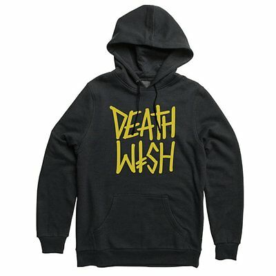 Deathwish - Deathstack Hoodie Black Yellow S M L Xl - New Skateboard Free Post