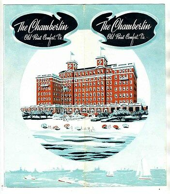 The Chamberlin Hotel Brochure Old Point Comfort Virginia 1940's