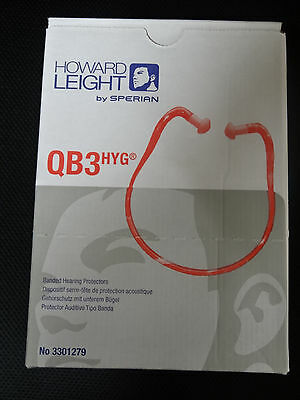 10x Howard Leight QB3HYG Quiet Bands Hygienic Banded Earplugs Hearing Protectors