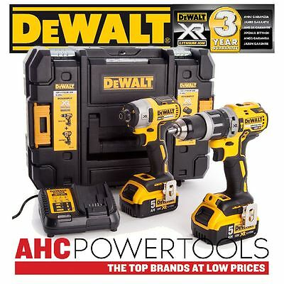 Dewalt DCK266P2T Combi Drill and Impact Driver XR 18V Brushless Kit (2 x 5.0ah)