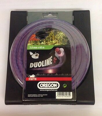 OREGON DUOLINE LOW NOISE nylon strimmer trimmer cutting line 3mm x 60metres