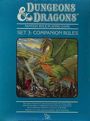 SET 3 COMPANION RULES EXC+! D&D TSR Boxed Box Three Dungeons Dragons Module