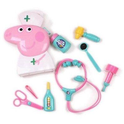 New Peppa Pig Doctors Medic Carry Case Playset With Accessories With Tag