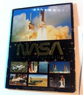 Nasa Space Collection 1990 Lot Of 12 Prints Enclosed Photos Pocket Planet Earth