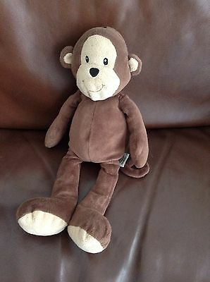 Marks And Spencer Monty Monkey Brown Soft Toy Baby Cuddly Teddy Comforter M&S