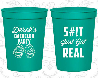 Bachelor Party Favor Cups Cup Favors (40024) Stock The Bar, Sh*t Just Got Real