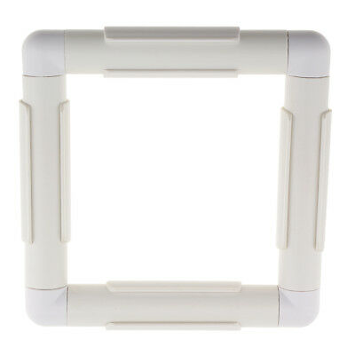 White Square Plastic Clip Frame for Embroidery Cross Stitch Quilting Tool