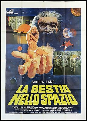 La Bestia Nello Spazio Manifesto Cinema Sci-Fi Sirpa Lane 1978 Movie Poster 4F