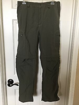 REI Convertible Nylon Zip-Off Hike/Camp Pants UPF 30+ Girls XL 16/18 Army Green