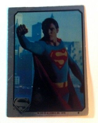 Superman Rare 1978 Topps Dc Comics Holo Sticker Card Collectibles Raising Fist