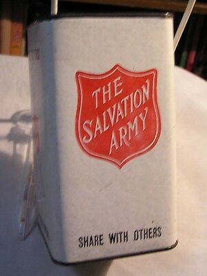 Salvation Army - VINTAGE - CHRISTMAS COUNTER-TOP COLLECTION CAN
