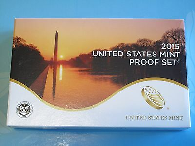 2015 (S) MINT ANNUAL PROOF SET 14 COINS FROM U.S. MINT IN OGP with COA (P17)