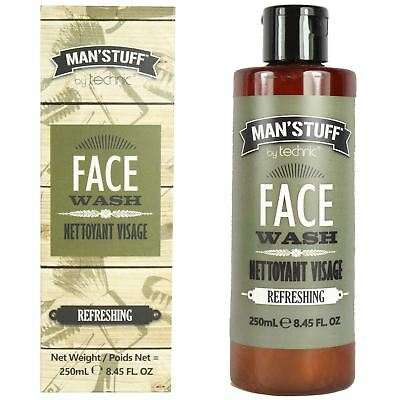 Technic Man'Stuff Refreshing Men's Face Wash Cleanser Deep Cleansing Gel 250ml