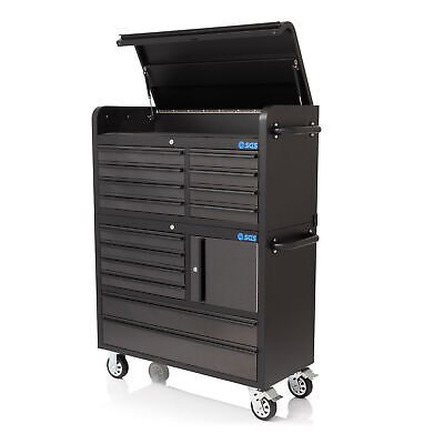 """41"""" Professional 14 Drawer Stainless Steel Tool Chest & Roller Cabinet"""