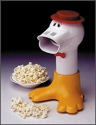 Prima DUCK Hot Air Popper Healthy Popcorn Maker PDP100 White Red Yellow Retro