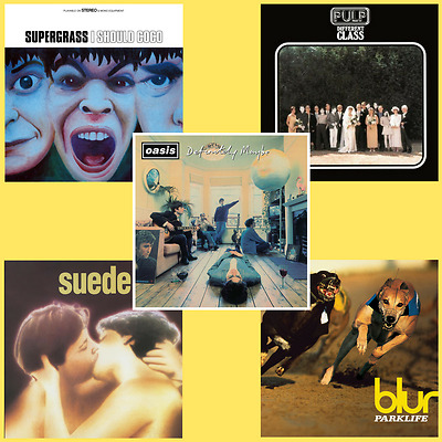 Britpop Vinyl Bundle - Oasis / Blur / Supergrass / Pulp / Suede - 5 x LP *NEW*