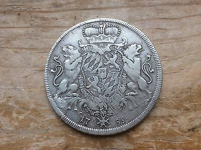 "1755 Bavarian silver thaler "" Coat of arms"" reverse. @@ must see @@"