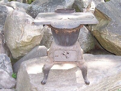 Antique Little Joe Cast Iron Wood / Coal Burning Stove Small