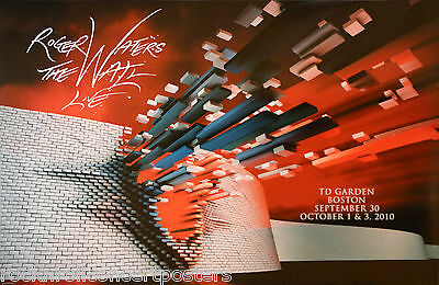 """Roger Waters Pink Floyd """" The Wall"""" Boston Garden 2010 Le Concert Poster Rare!!!"""