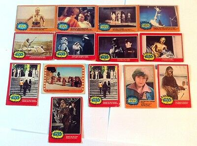 Star Wars 1977 Topps Lot Of 11 Movie Trading Cards Collectibles