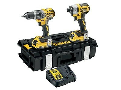DeWalt DCK266D2B-GB 18V 2x2.0Ah Bluetooth Brushless Combi/Impact Twin Kit