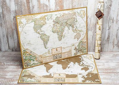 Antique Map, World Scratch Map, Personal travel map, antique design.