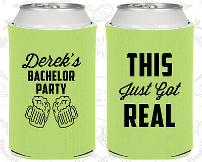 Bachelor Party Coozies Coozie Favors (40024) Stock The Bar, Sh*t Just Got Real