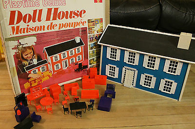 Playtime Deluxe Doll House (Coleco, 1973) Vintage / Very Rare / With Box **Read