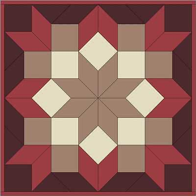 CARPENTER'S STAR in Rose & Brown - Not Quilted, Machine Pieced, Made in the USA!