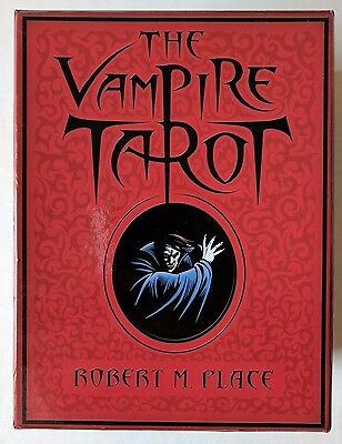 The Vampire Tarot by Robert M Place 2009 First Edition 78 Card Deck Red Box Kit