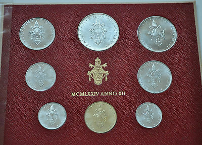 1974 Vatican City Paul VI (XII Year) Coin Set - Unc