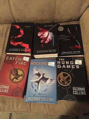 Lot Of 6 Books Suzanne Collins And Stephenie Meyer